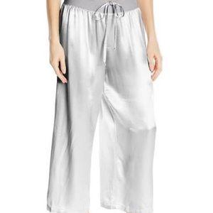 PJ Harlow Jolie Capri Grey Satin Pajama Pants